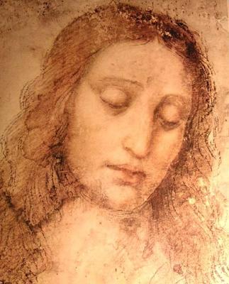 Rosto de Jesus no quadro Santa Ceia