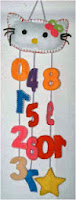 mainan edukasi dari flanel gantungan angka