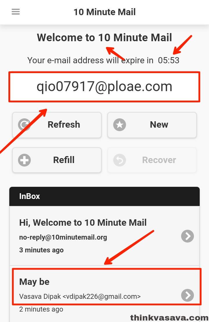 Temporary Email ID Kaise Banaye - टेम्पररी ईमेल