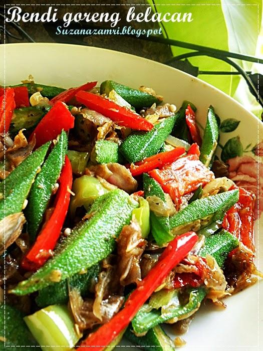 ..Cooking with soul.....: BENDI GORENG BELACAN