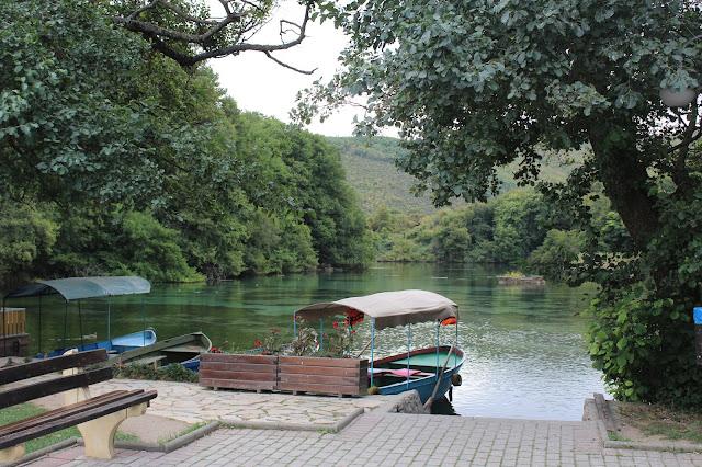 lake boat trees Ohrid Lake