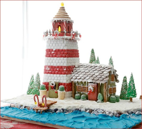 Coastal Gingerbread Lighthouse Ideas, Recipes and Templates