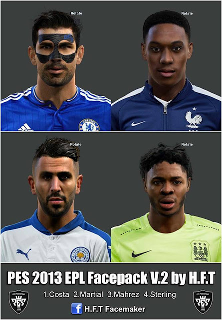 PES 2013 EPL Facepack V.2 by H.F.T