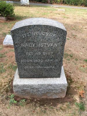 Nagy Istvan grave stone April 18 1930 Hillside Cemetery Metauchen NJ