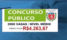 Governo reabre inscrições para concurso na área de segurança pública. Salário de R$4.263,67