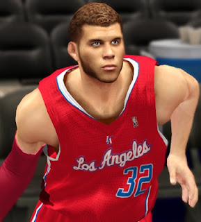 NBA 2K13 Realistic Cyberface of Blake Griffin with Beard