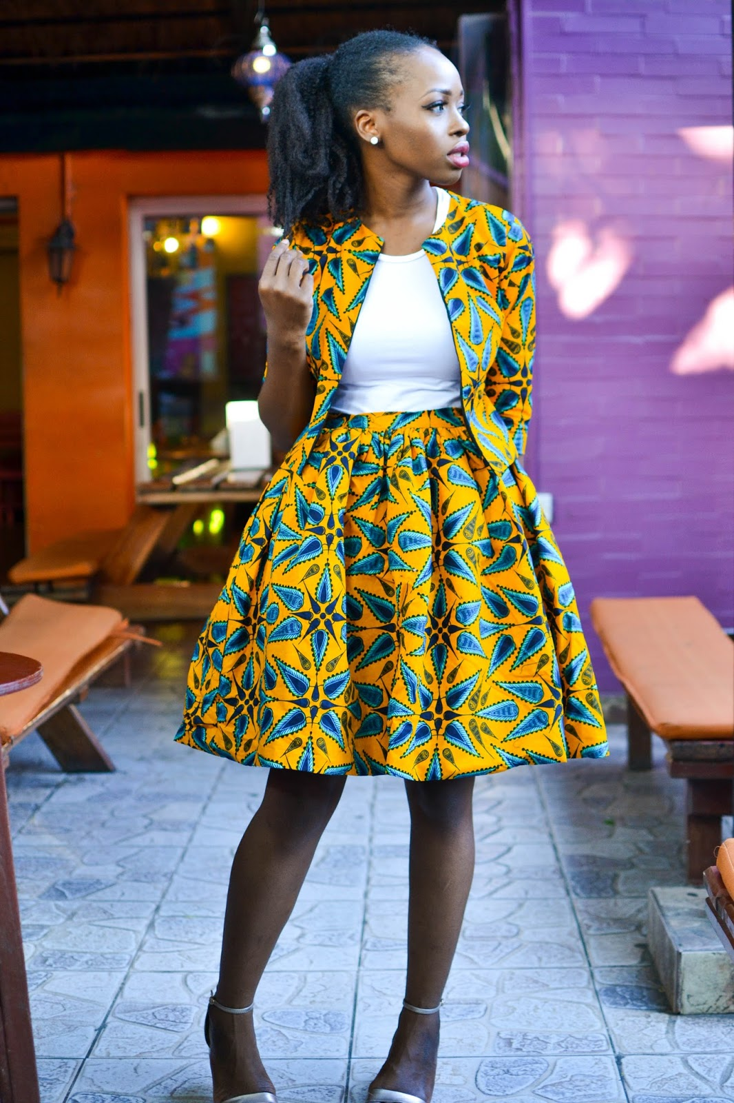 African Prints on a Black Influencer