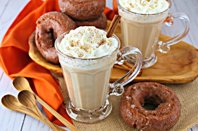 Easy Copycat Pumpkin Spice Latte made with real pumpkin
