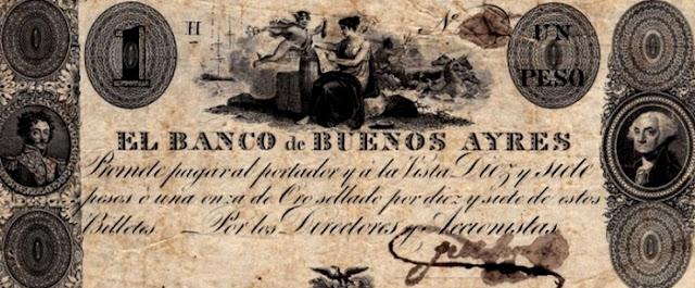 Primer Billete con el Rostro de Simón Bolívar