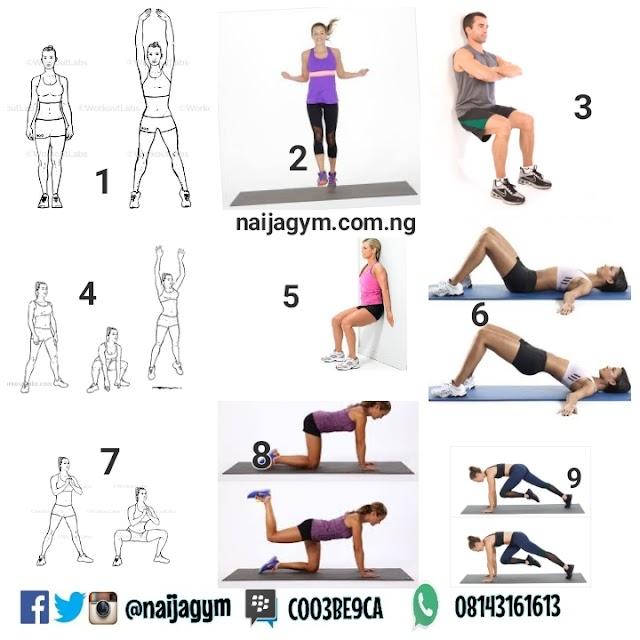 Saturday 19/01 Workout plan