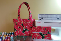 Watermelon Tote bag and Make-up case