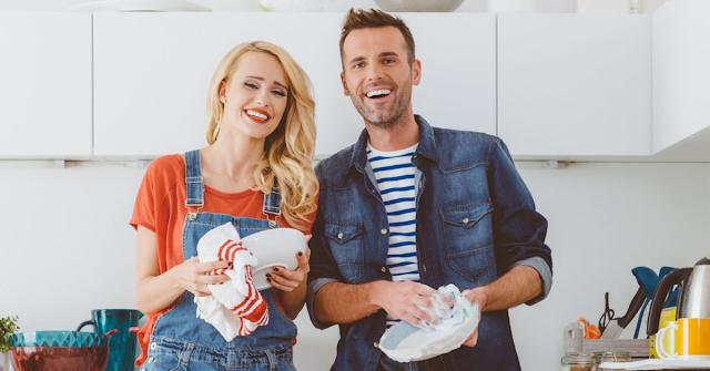 Divisão das tarefas domésticas no casal