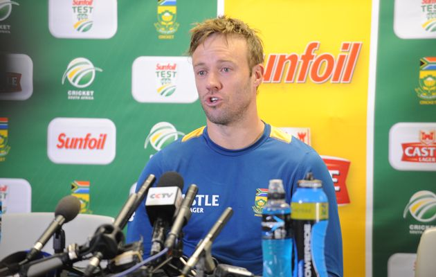 AB de Villiers during the South African national cricket team training session and captains press conference at Bidvest Wanderers Stadium on January 13, 2016 in Johannesburg, South Africa.  Image by: Lee Warren/Gallo Images