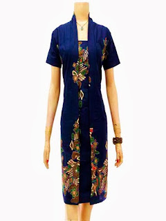 Baju Batik Modern Dress Panjang