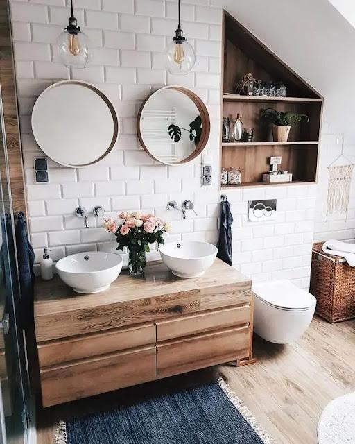 ديكورات حمامات صغيرة مودرن