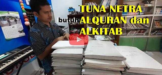 Tuna Netra Siantar Butuh Alquran dan Alkitab