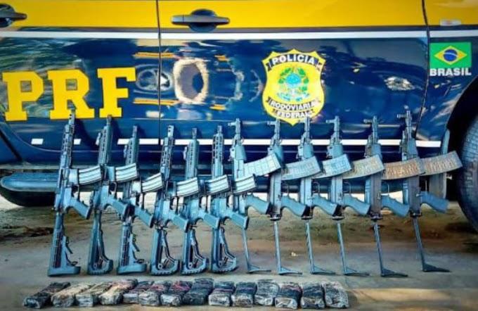 PRF apreende 12 fuzis em operação na Régis Bittencourt