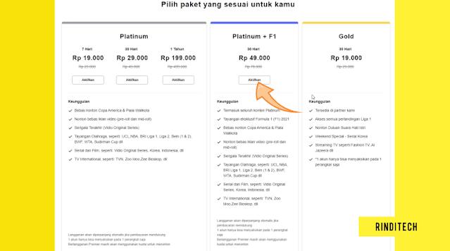 Cara Berlangganan Paket Vidio Platinum F1 +Kode Voucher Vidio