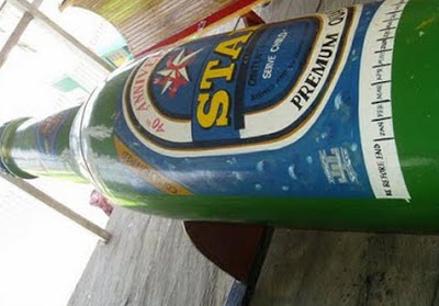 man buried star beer bottle casket ghana
