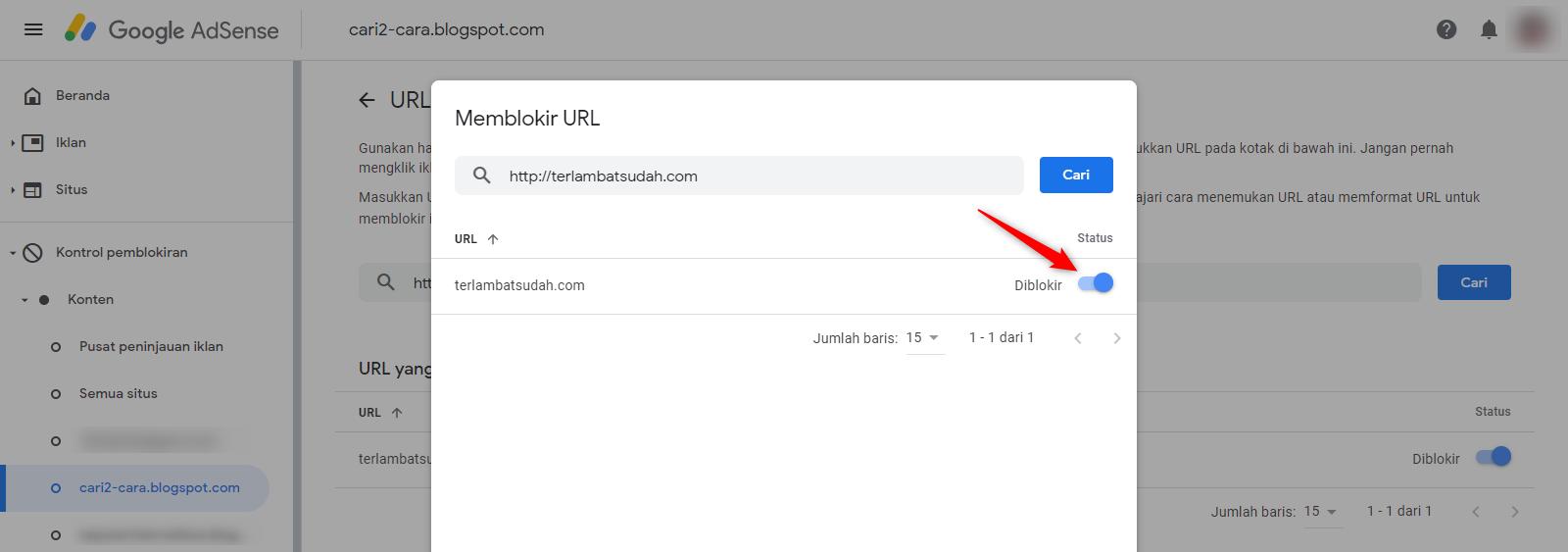 Cara Memblokir URL Iklan Google Adsense ~ Cari2-Cara