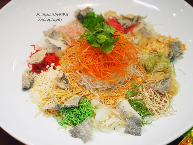 Prosperous Rainbow 'Yee Sang' With Salmon Trout