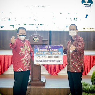 Pemkab Jember Dipercaya BPMD Salurkan Bantuan Warga Terdampak Covid-19