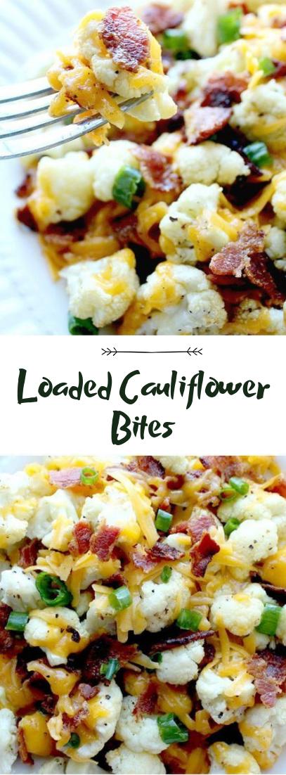 Loaded Cauliflower Bites #healthyfood #dietketo