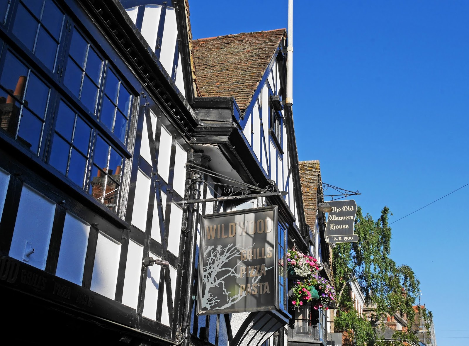 Outside The Old Weavers, Canterbury