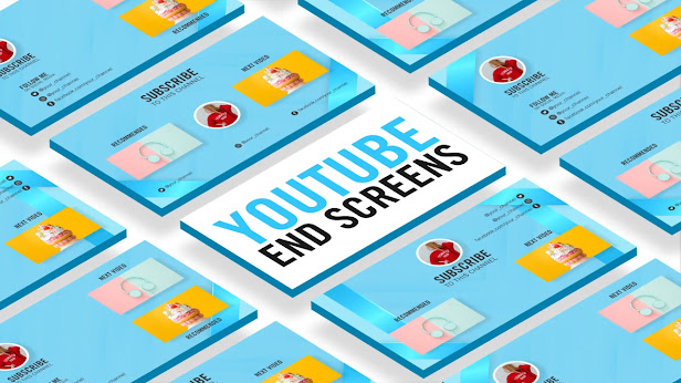 YouTube End Screen Card Template - After Effects Template