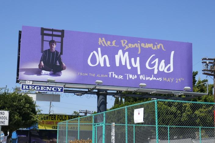 Alec Benjamin Oh My God single billboard