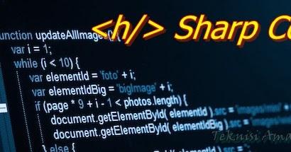 Teknisi Amatir Tegal: Sharp Code