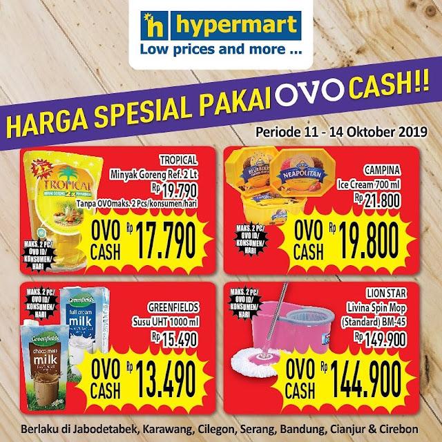 #Hypermart - #Promo Harga Spesial Pakai OVO Cash (s.d 14 Okt 2019)
