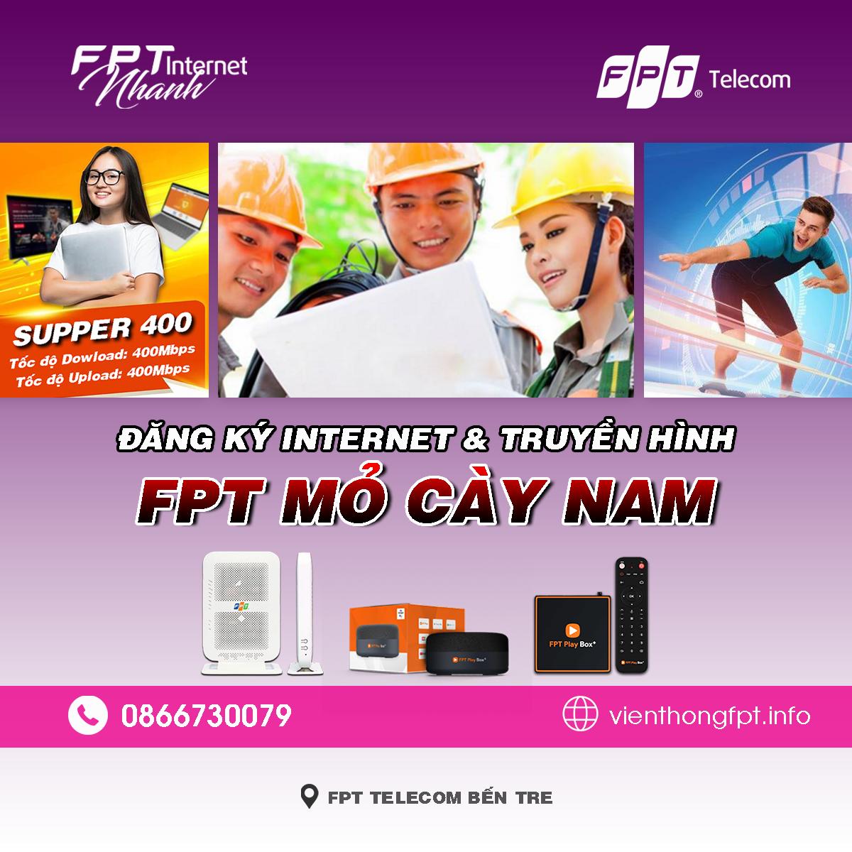 Bảng giá lắp mạng FPT Mỏ Cày Nam