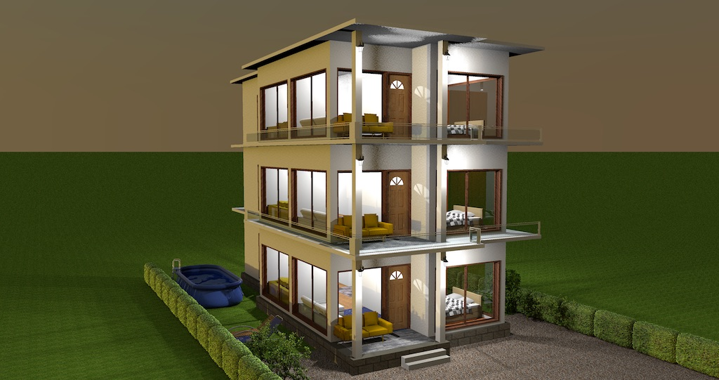 Multi-storey single family residential building