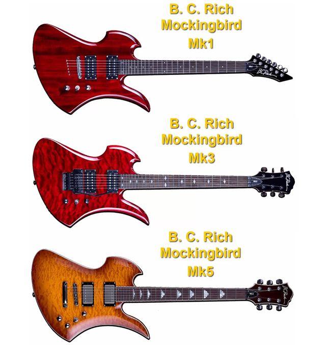 B. C. Rich Mockingbird MK1, MK3 y MK5
