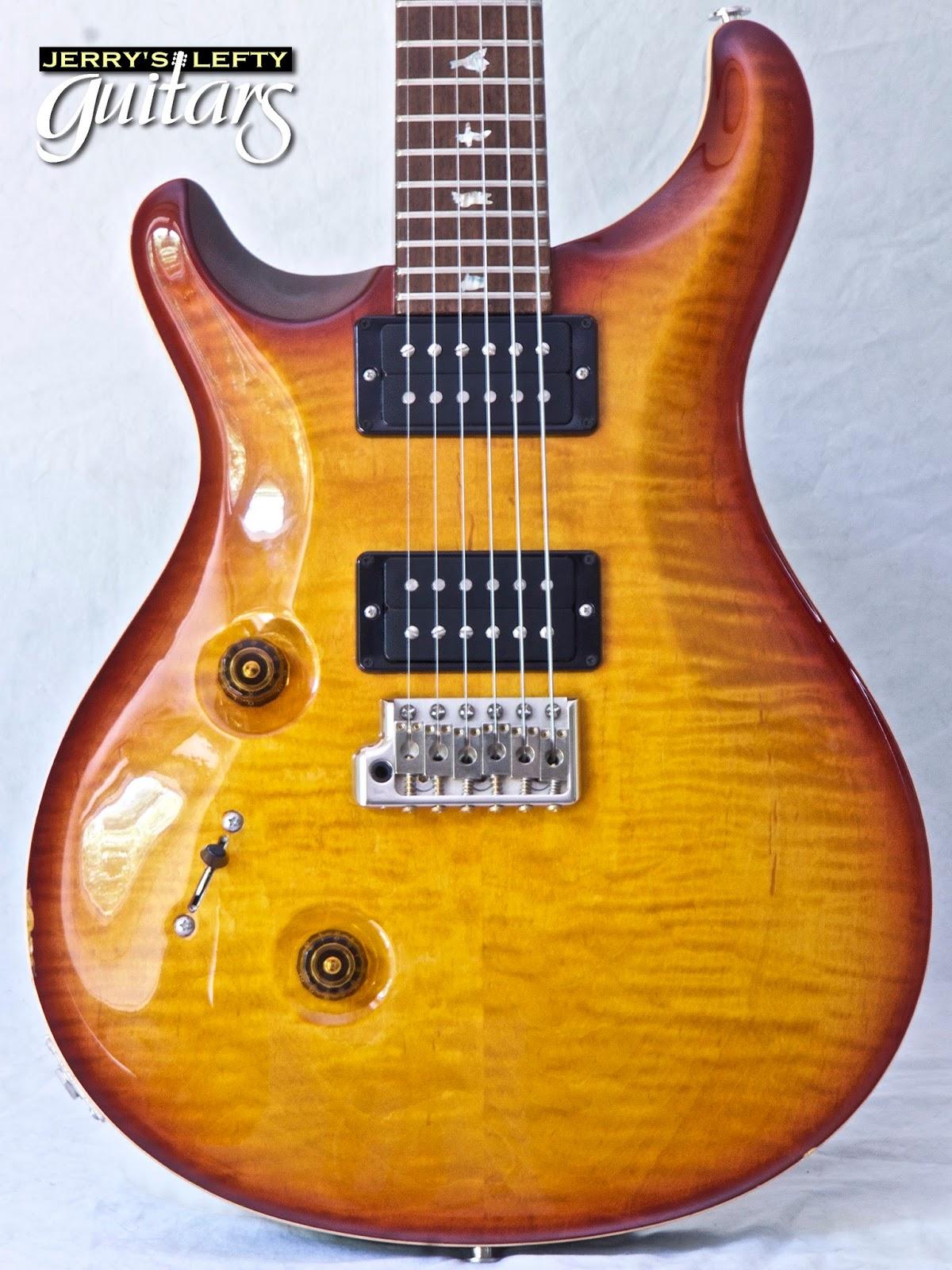 jerry 39 s lefty guitars newest guitar arrivals updated weekly 2012 prs custom 24 amber burst. Black Bedroom Furniture Sets. Home Design Ideas