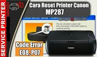 Printer MP287 Lampu error