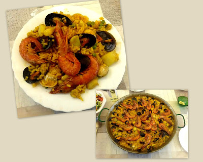 Arrocito de domingo de sepia y marisco.