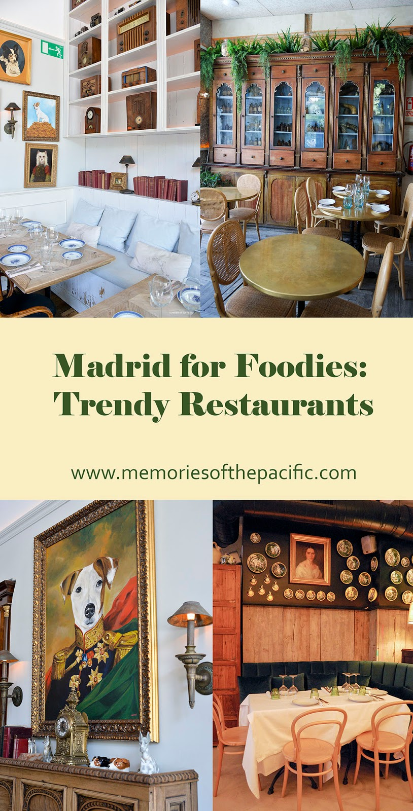madrid spain foodie trendy cool unique fancy chic best hottest restaurants