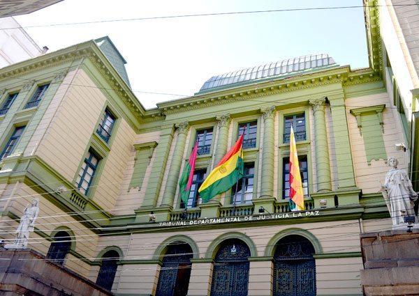 Frontis del Tribunal Departamental de Justicia de La Paz / TDJ LA PAZ