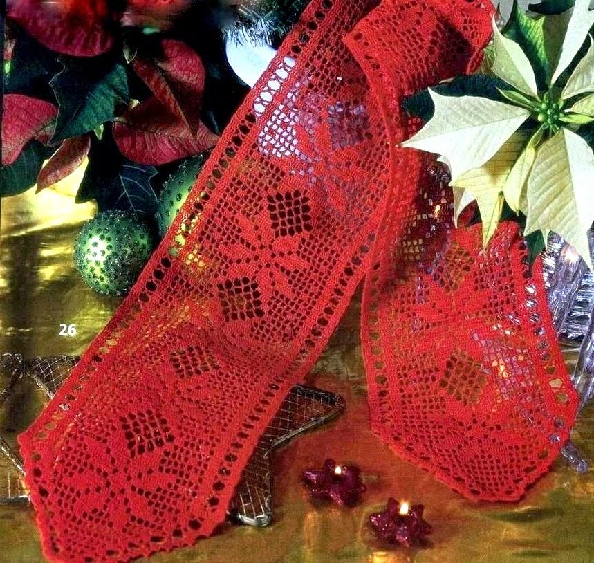 Mille Idee Pernatale Striscia Rossa A Filet Con Le Stelle Di Natale