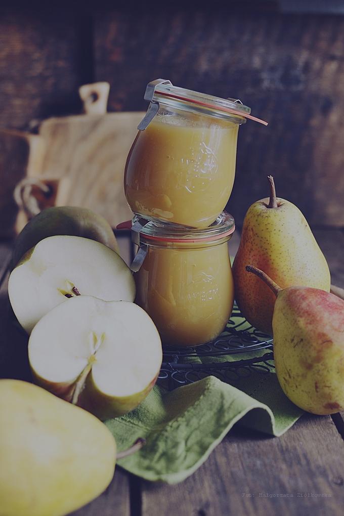 Przecier jabłkowo gruszkowy bez dodatku cukru