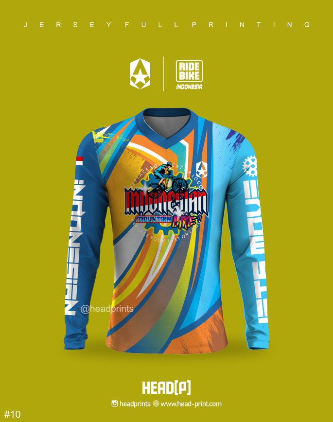 Deep Blue Jersey Sepeda MTB Full Printing - Jersey Gowes Full Printing Custom