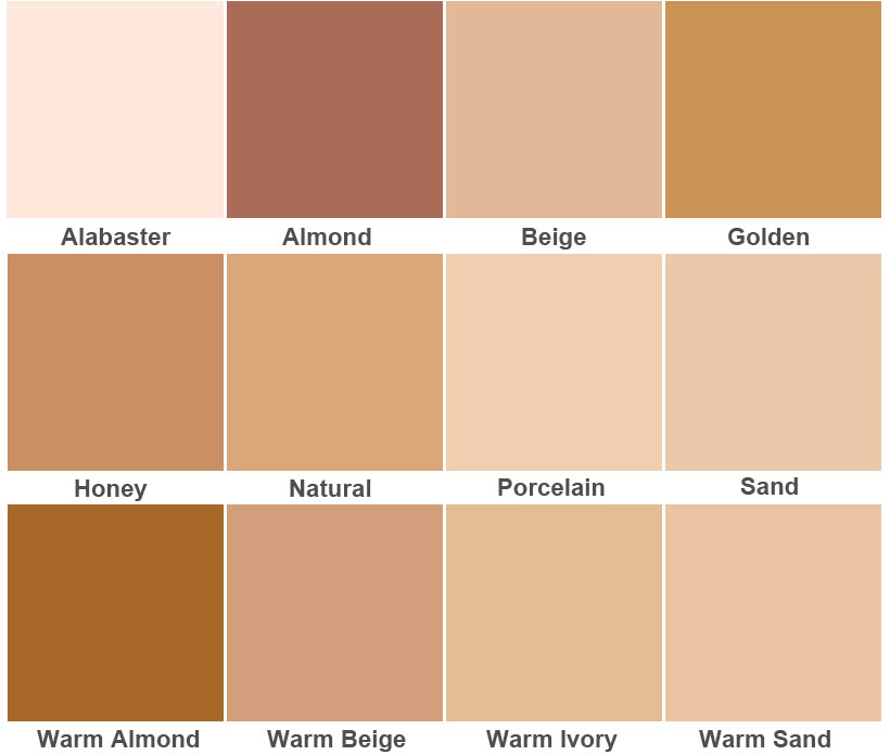Products Color Chart Dermablend