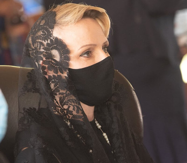 Princess Charlene attended the memorial service of King Goodwill Zwelithini at the KwaKhethomthandayo