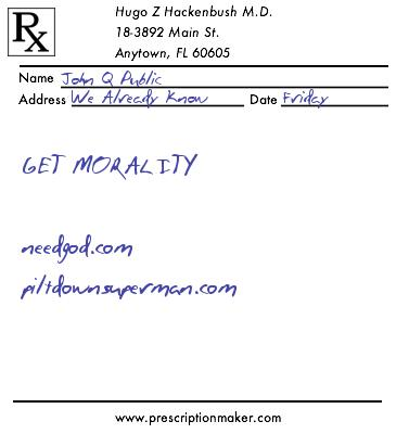 Prescription chemical morality