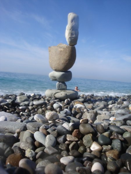The Rostovan discovered a rare talent for balancing stones