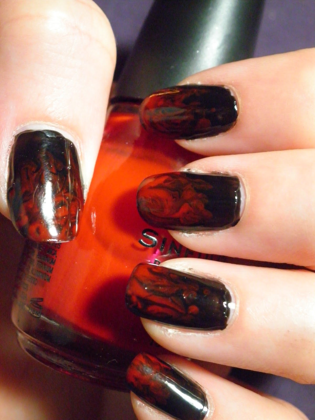 Red And Black Shellac Nails | Best Nail Designs 2018