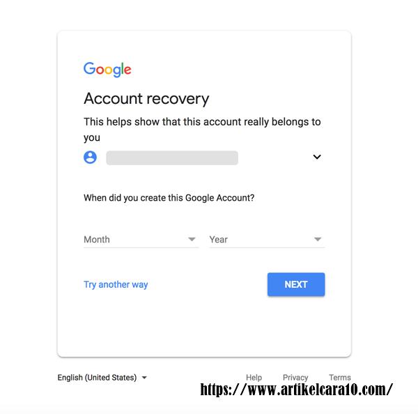 cara mengatasi password gmail yang lupa
