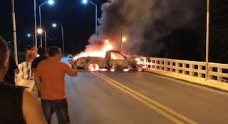 Bandidos invadem cidade da Paraíba, explodem banco e trocam tiros com a polícia